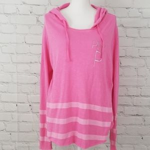 VS PINK Hooded Long sleeve Top
